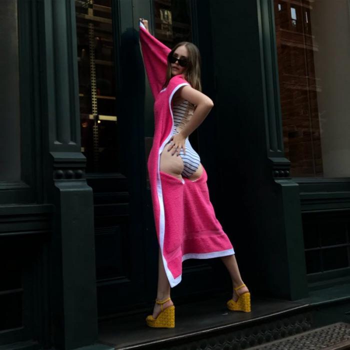 Дизайнер из Нью-Йорка соединила пляжное полотенце и купальник Интересное
