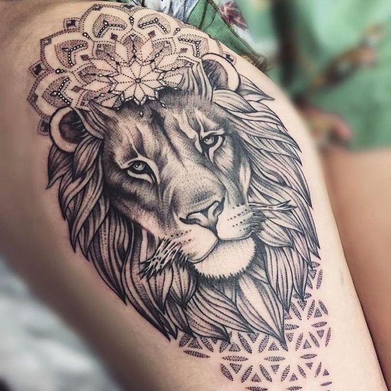 Тату льва на запястье и других частях тела стиль,мода,Мода и стиль