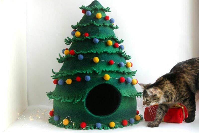16 забавных кошачьих домиков из фетра от украинских мастеров Meow Felt зверушки, живность, питомцы, животные