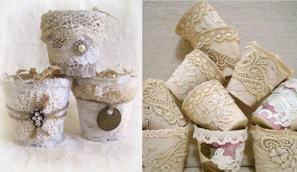 Идеи декора цветочных горшков Рукоделие