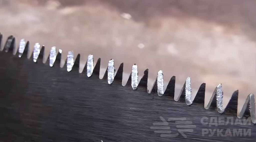 Способ заточки ножовки с мелким и высоким зубом Самоделки