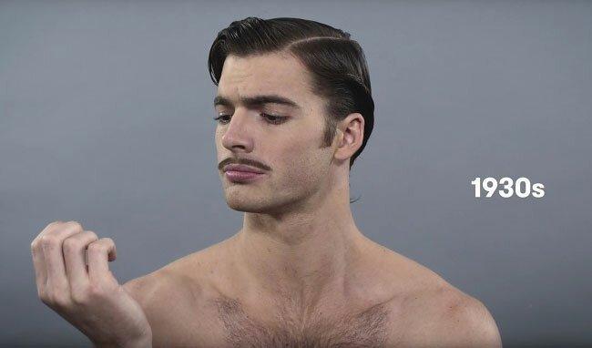 Как изменились стандарты мужской красоты за 100 лет   Интересное