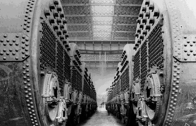 35 редких фотографий строительства «Титаника»   Интересное