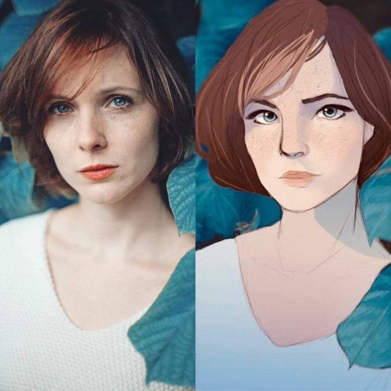 16 художников провели необычный эксперимент с портретами французского фотографа Искусство