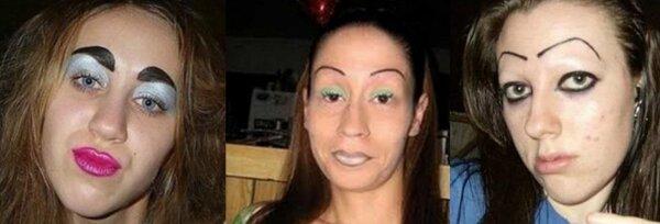 Зачем они это делают? женщины,красота,макияж,фотография
