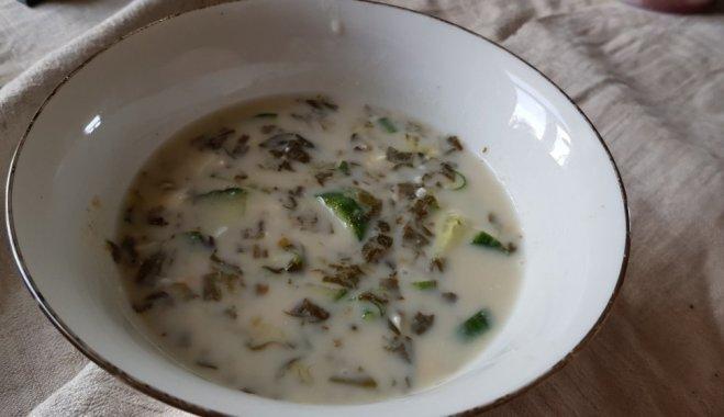 Постный щавелевый холодный суп кулинария,супы,холодные супы