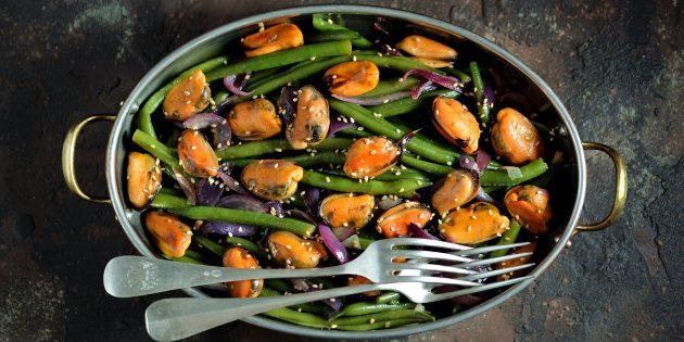 10 очень вкусных блюд из стручковой фасоли закуски, кулинария, рецепты, салаты