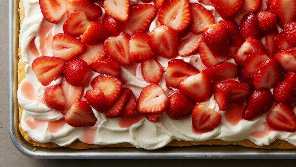 Такой простой и такой вкусный! Рецепт клубничного пирога выпечка,клубничный пирог,кулинария