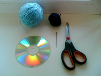 Подставка для чашки из старых дисков подставка из дисков,своими руками,сделай сам