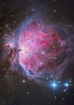 Великолепная туманность Ориона на новом фото Космос